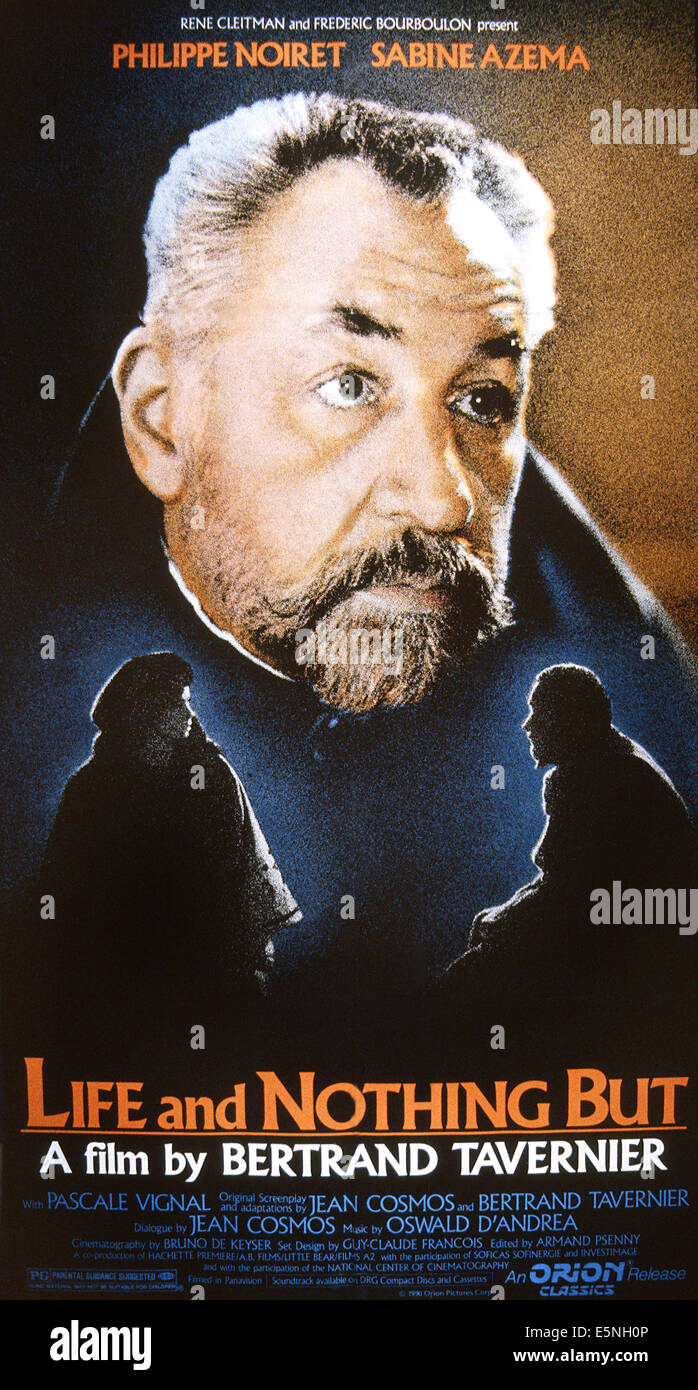 La Vie Et Rien D'autre : d'autre, NOTHING, D'AUTRE),, Poster,, Philippe, Stock, Photo, Alamy