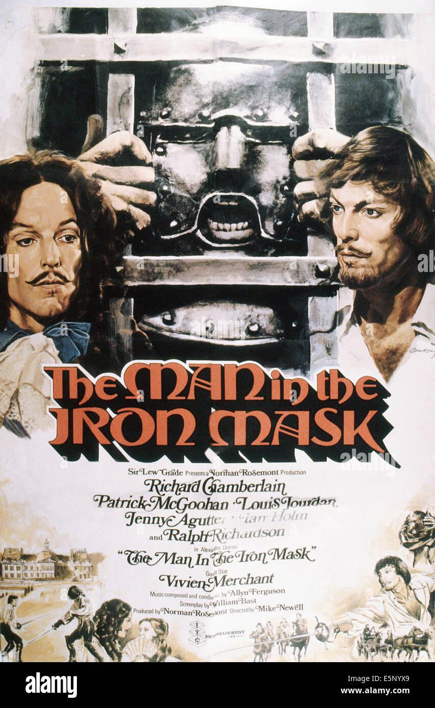Film L'homme Au Masque De Fer : l'homme, masque, MASK,, Poster,, Richard, Chamberlain, (left, Stock, Photo, Alamy