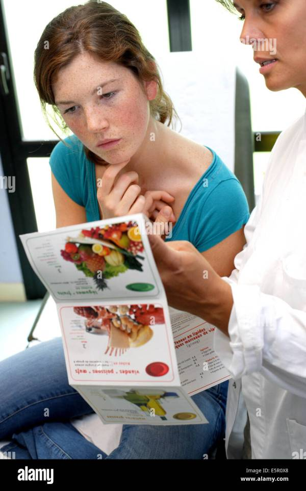 Teenage Girl Receiving Nutrition Education Consultation