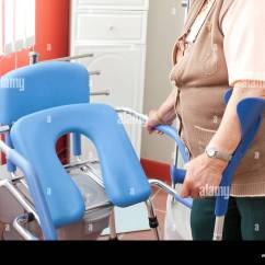 Geriatric Chair For Elderly Most Expensive Ever Sold Stock Photos Images Alamy Woman With A Toilet Image