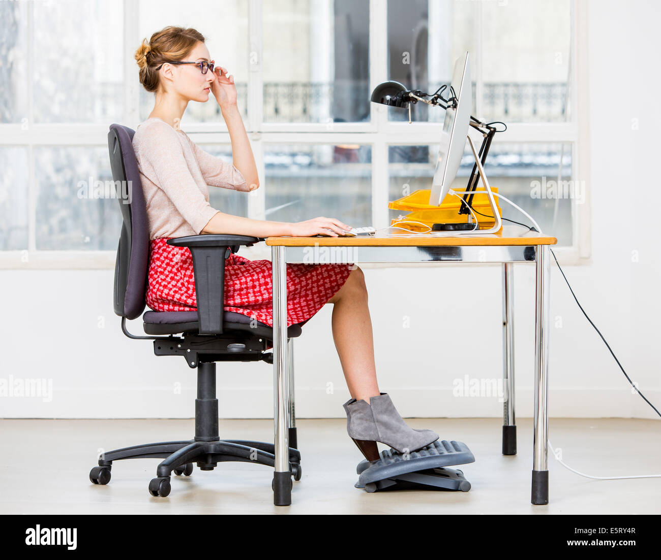 edo posture chair punisher skull adirondack pattern 1 x stock photos images alamy right for working at a computer image