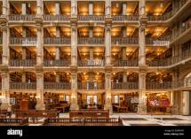 Baltimore George Peabody Library Of Beautiful