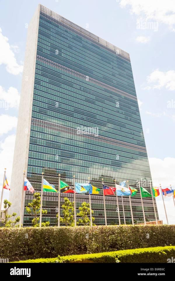 Secretariat Building United Nations Headquarters Stock &