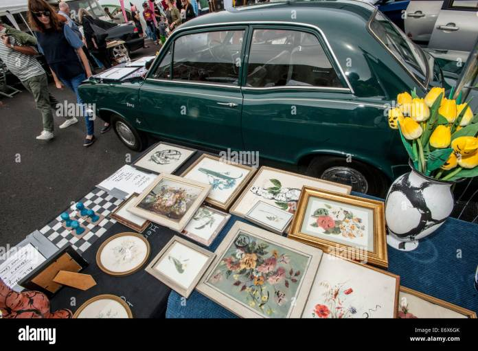 hit art sale concept vauxhall art car boot fair travels to