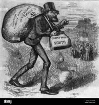 The man with the carpet bags - Caricature of Carl Schurz ...