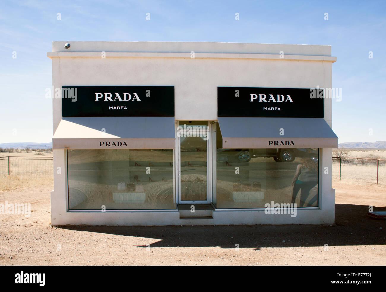 Prada Store Art Installation In The Desert In Valentine