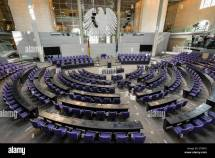 Debating Chamber Of Reichstag Parliament Building In