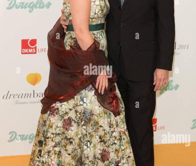 Berlin Germany Th Sep  Marion Kracht And Her Escort Arrive For The Dkms Life Charity Gala Which Runs Under The Motto Look Good Feel Better In