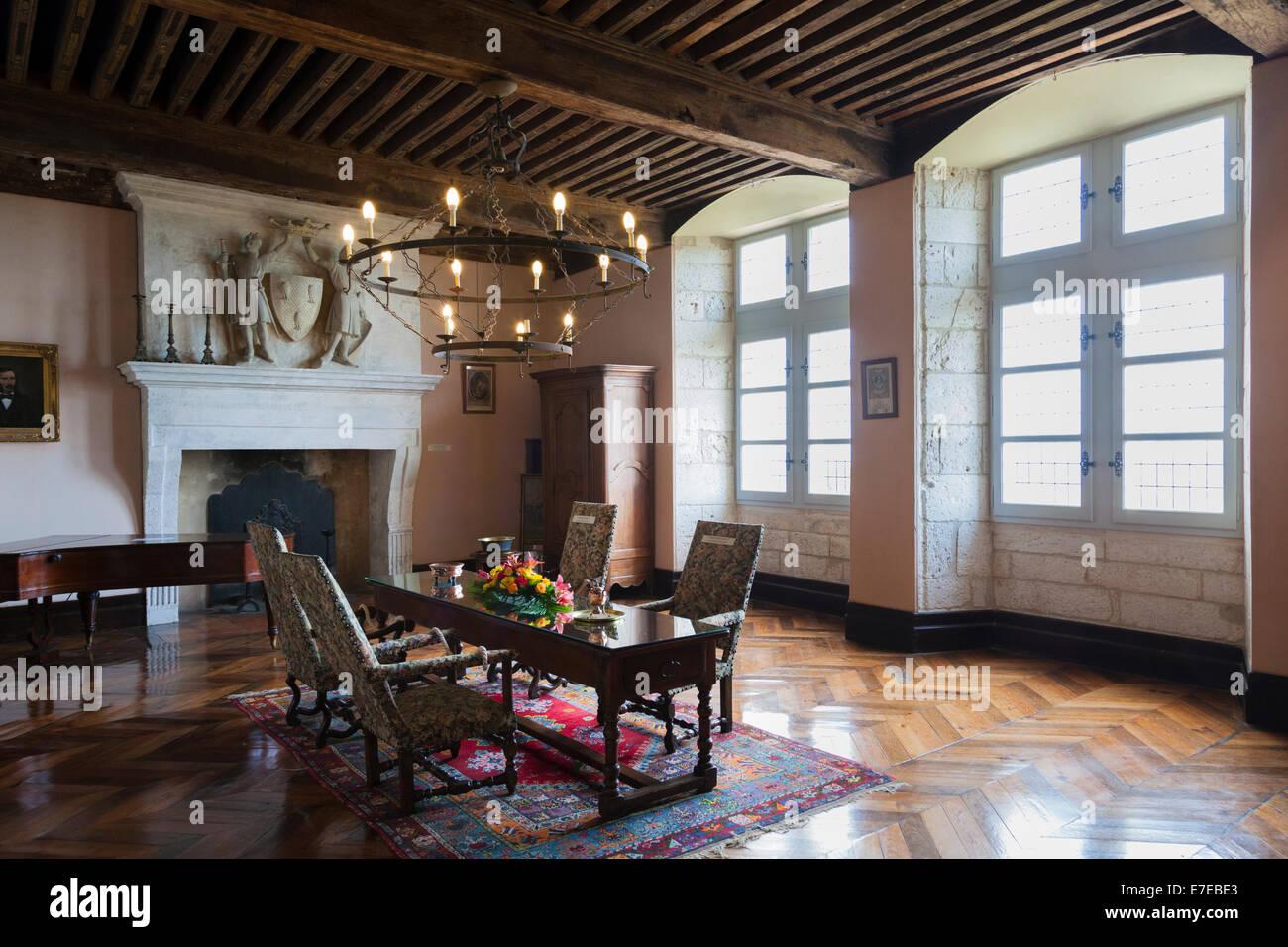 The grand Salon inside the Chateau de Monbazillac France Stock Photo 73460411  Alamy