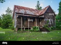 Abandoned Wooden House In Rural North Florida Stock