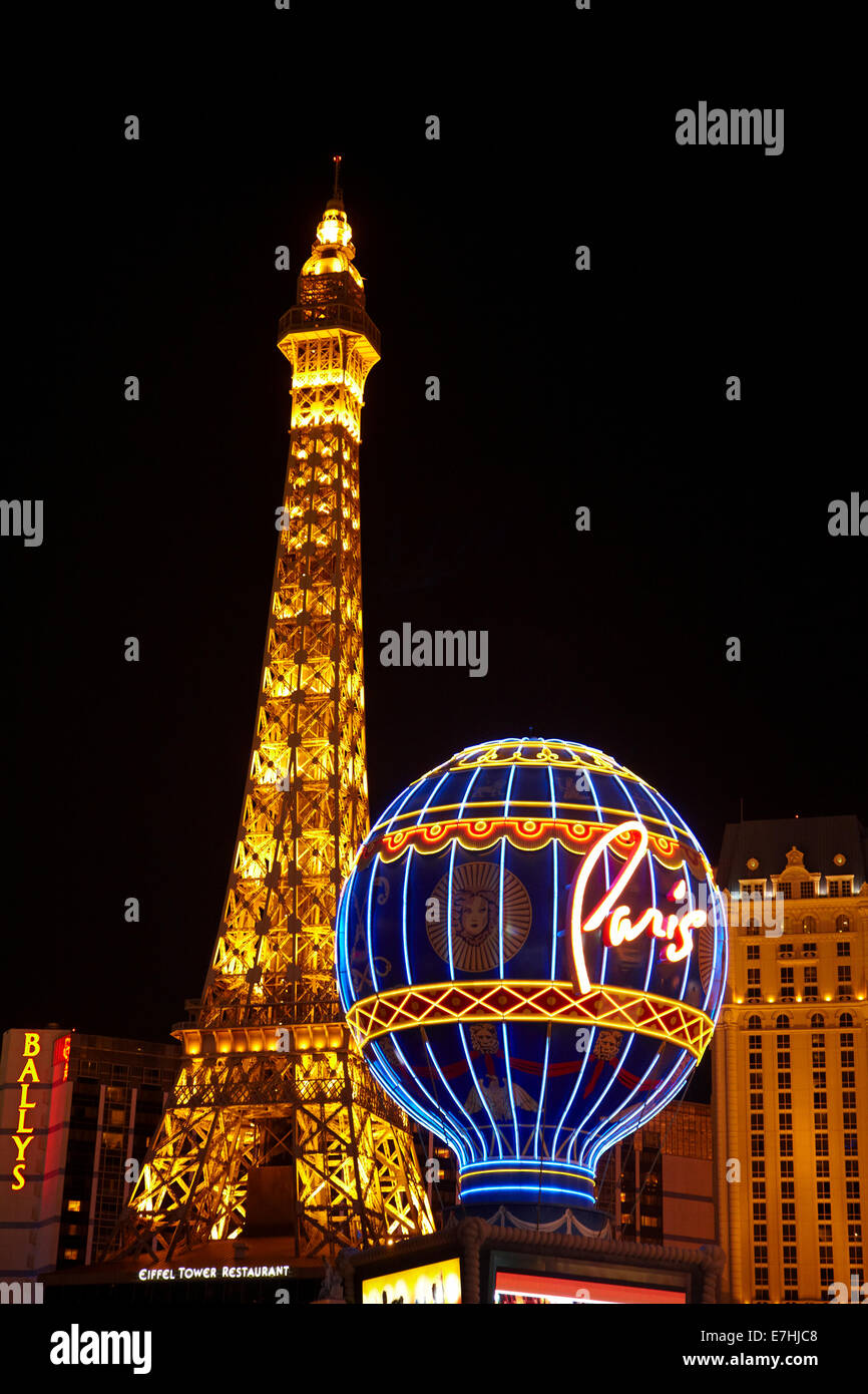 Half size Eiffel Tower replica and Montgolfier balloon