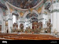 Interior, chancel of the baroque Catholic Cathedral of St ...