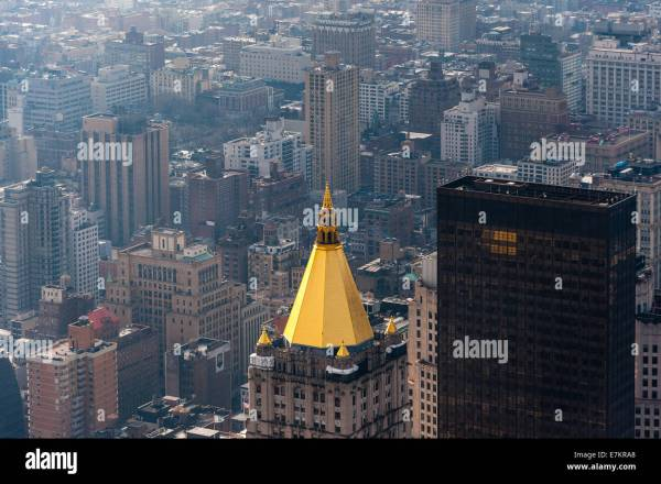 Empire State Building Observation Deck Stock &