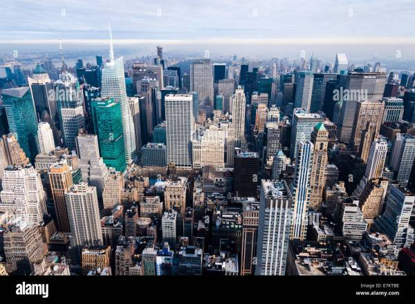 York City. View Empire State Building Observation Stock Royalty Free