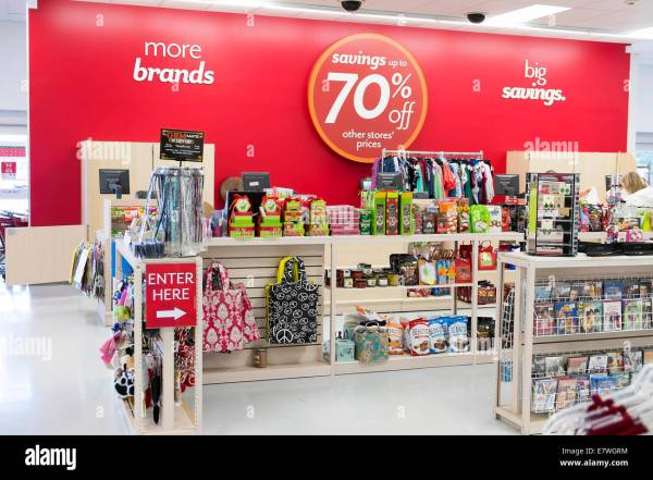 Department Store With Signs Attract Customers
