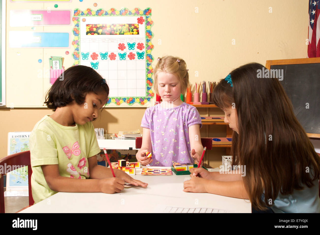 Kindergarten School Table Stock Photos Amp Kindergarten School Table Stock Images