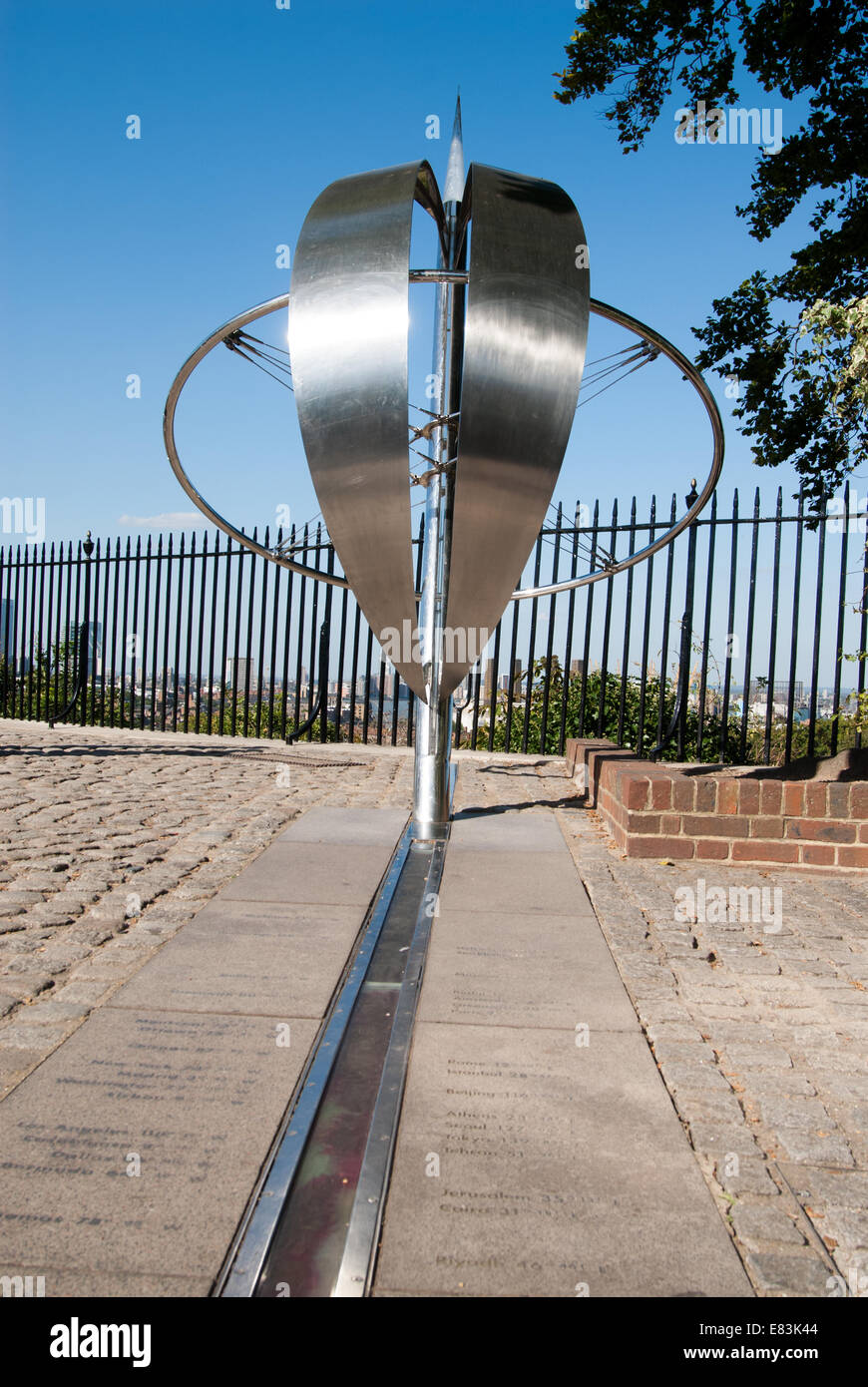 The Prime Meridian at the Royal Observatory in Greenwich
