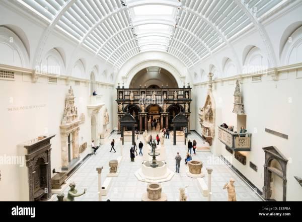 Victoria Albert Museum Interior British Stock
