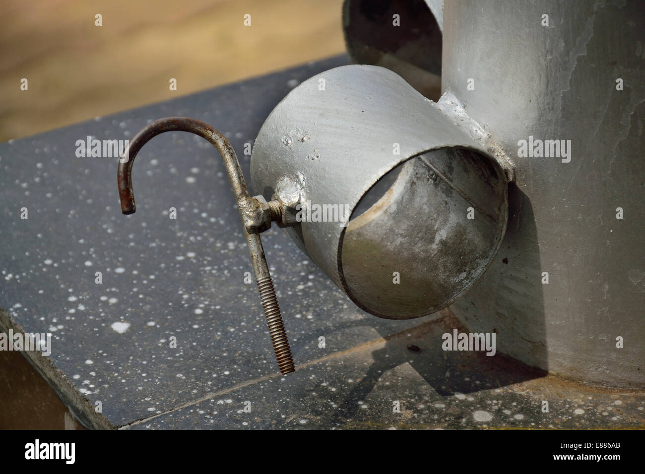 hight resolution of lock with metal pipe stock image