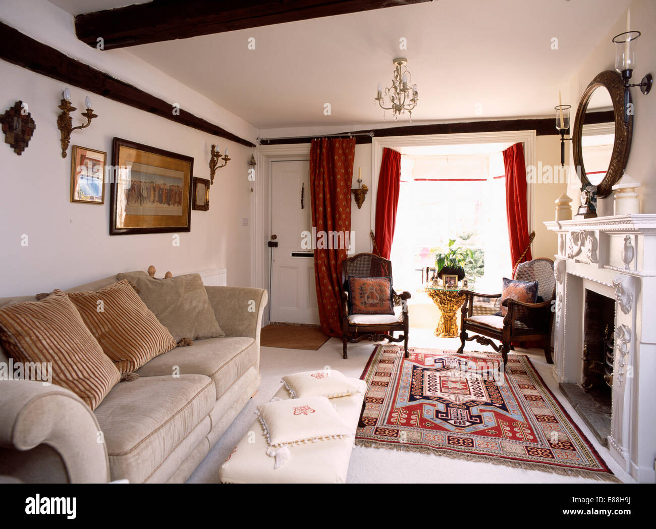country rug for living room idea images patterned and beige velour sofa in with red curtains on window