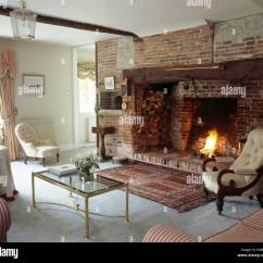 Traditional Living Rooms With Oriental Rugs Small Room Sectional Rug In Front Of Inglenook Fireplace Cottage ...