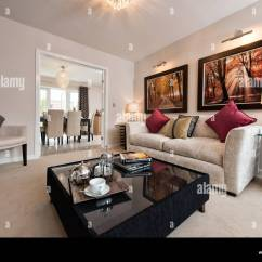 Living Room Show Homes Pictures Of Rooms With Brown Leather Sofas The A Persimmon Home On Typical British Housing Development In Highworth Wiltshire