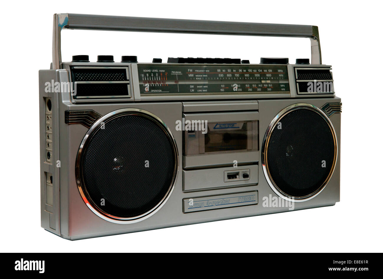 vintage radio boombox on