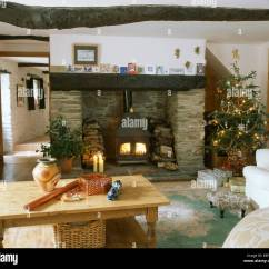 Images Of Living Rooms With Wood Burners False Ceiling Designs For Room In India Christmas Tree Beside Fireplace Burning Stove Cottage Pine Coffee Table