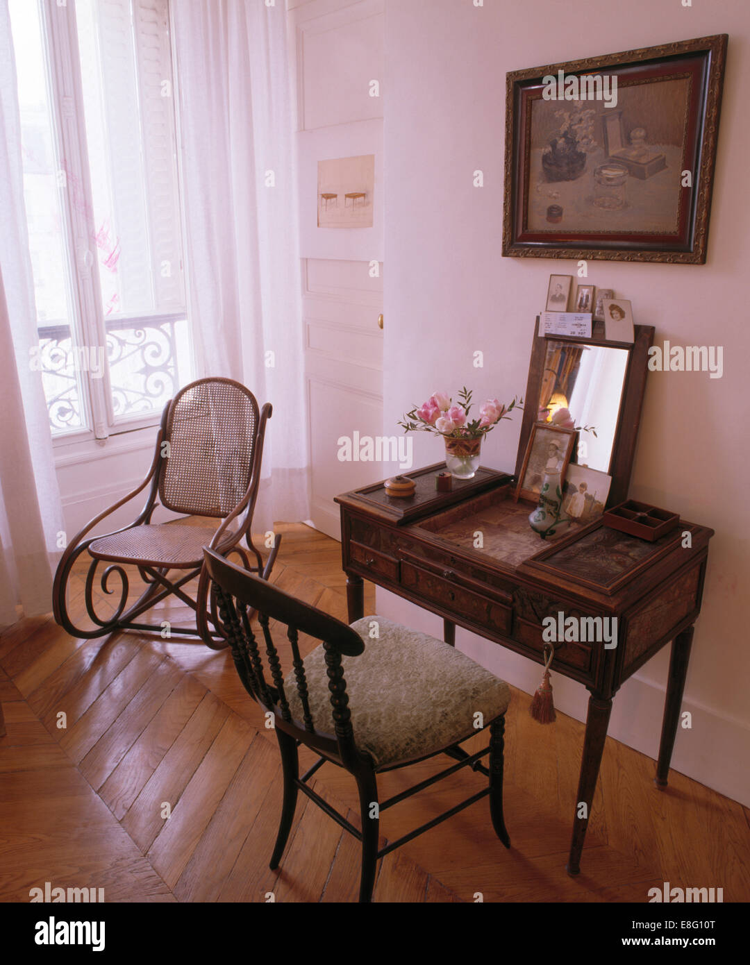 bedroom rocking chair nice dining room covers antique desk and in with bentwood parquet flooring