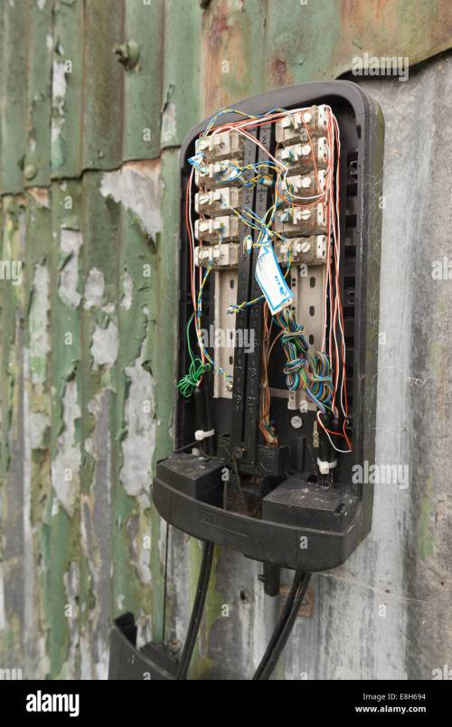 small resolution of lack of communication or network a damaged phone junction box broken open exposing bare wires connections sabotaged