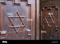 Jewish Doorway Symbol & Frosted Glass Mezuzah With ...