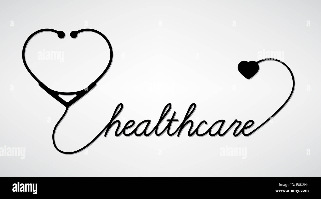 Heart Stethoscope Drawing