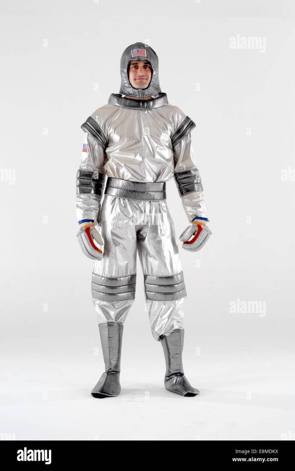 Man Dressed In Fancy Dress Comedy Costume Spaceman