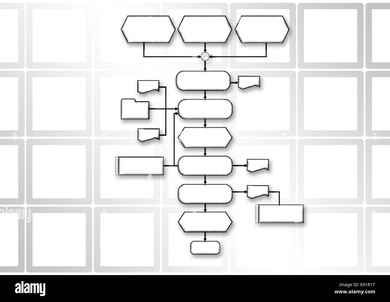 hight resolution of flow chart programming process stock image