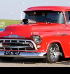 1957 chevy pickup truck 350 chevrolet stock image [ 1300 x 956 Pixel ]