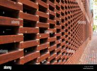 Perforated brickwork design (hit-and-miss) used on wall of ...