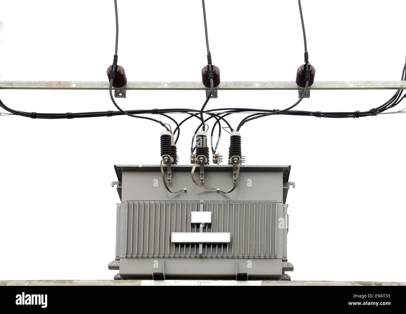 hight resolution of electric transformer stock image