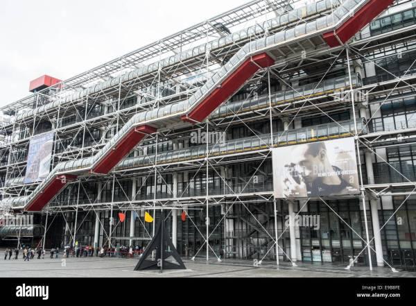 Georges Pompidou Centre National Modern Art Museum Paris France Stock 74621554 - Alamy