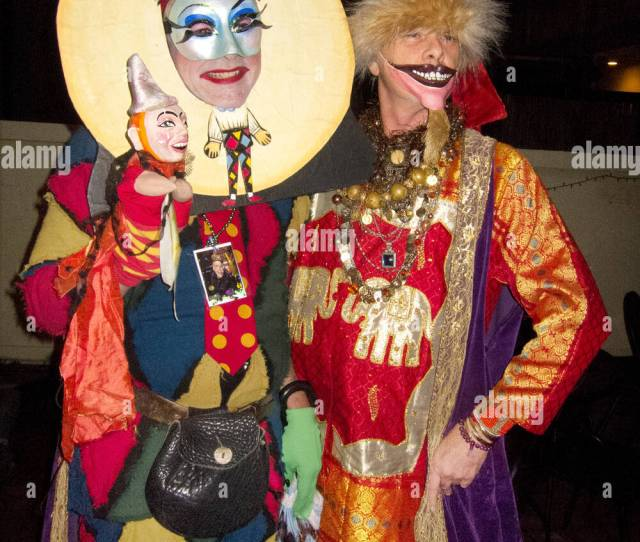 Two Men In Mardi Gras Costumes At St Annes Gay Ball New Orleans La