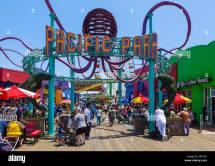 Entrance Pacific Park Fairground Santa Monica Pier