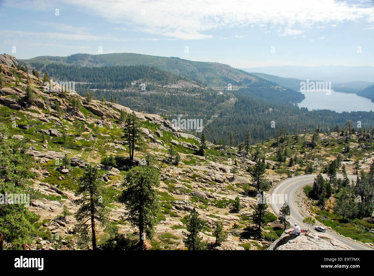 https www alamy com stock photo highway 40 over donner pass in sierra nevada california with donner 74906298 html