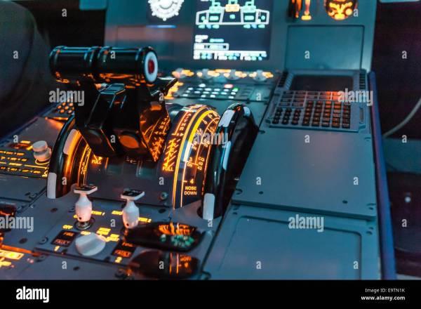 Airbus Flight Simulator Controls Throttles - Year of Clean Water