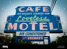 Loveless Motel And Cafe. Nashville Tennessee Stock