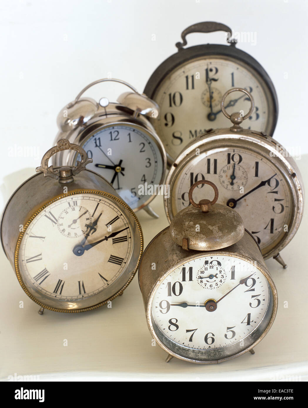 collection of vintage alarm