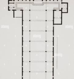 ground plan of the basilica di santa croce basilica of the holy cross florence italy  [ 1029 x 1390 Pixel ]