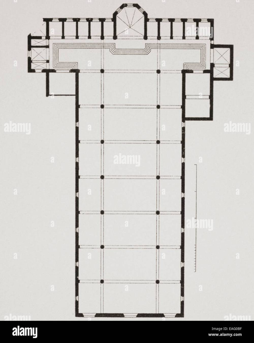 medium resolution of ground plan of the basilica di santa croce basilica of the holy cross florence italy