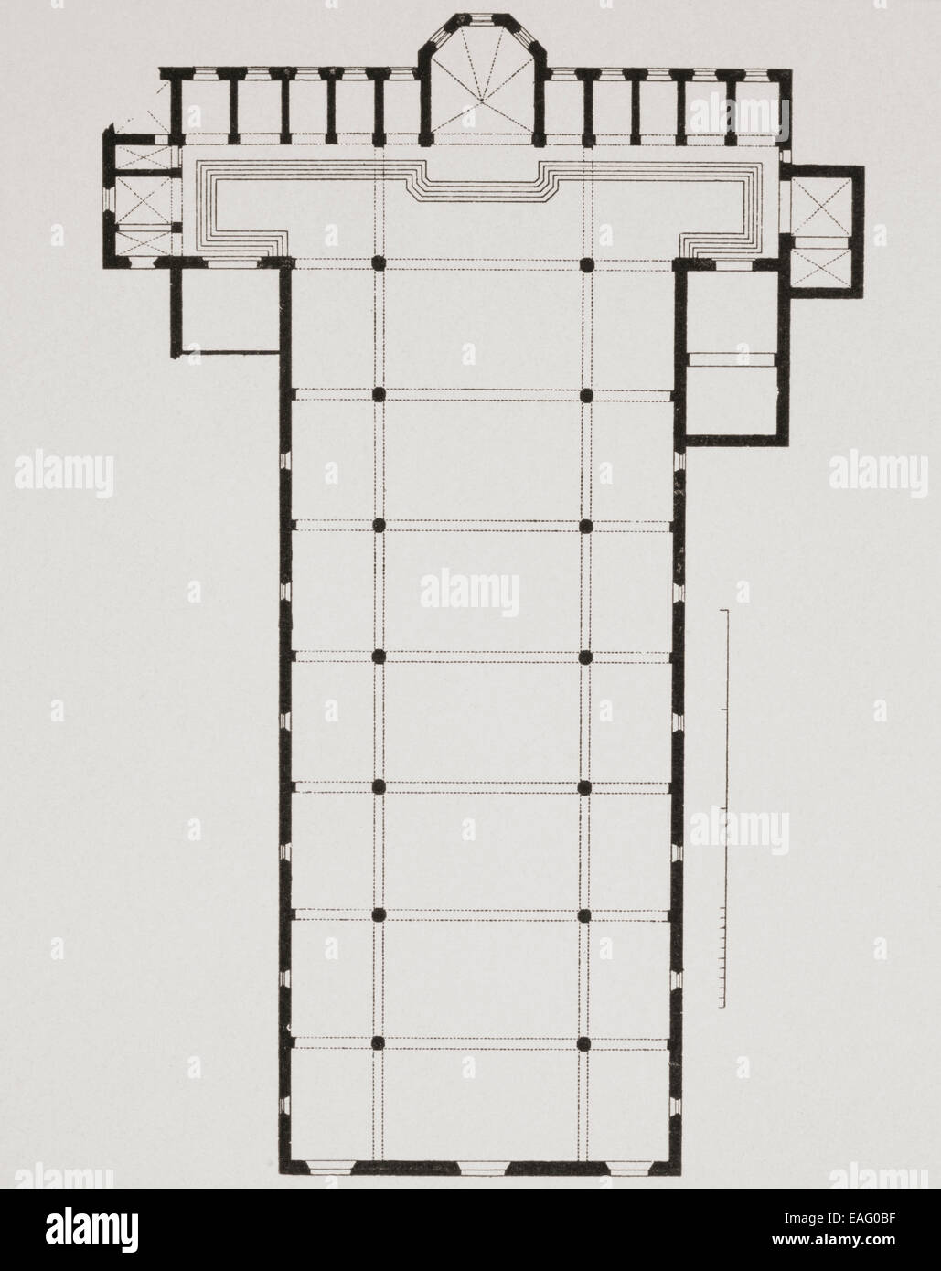 hight resolution of ground plan of the basilica di santa croce basilica of the holy cross florence italy