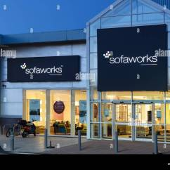 Sofaworks Westfield Stratford Corner Couch Sofa Bed Nz Shop Store Front Entrance Stock Photos At Night Image
