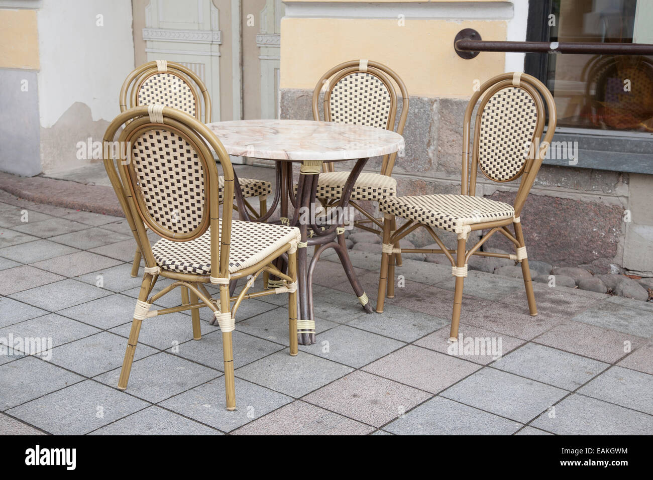 parisian table and chairs office chair glides cafe in paris street stock photo royalty