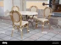 Cafe Table and Chairs in Paris Street Stock Photo, Royalty ...